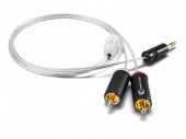 Astell&Kern PEF15, Piccolo Diamond 3.5 mini jack to RCA Cable by Crystal Cable, 100 cm